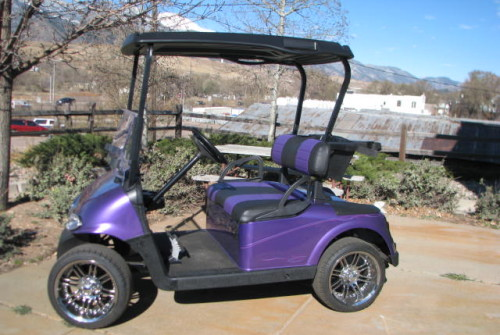 2012 E-Z GO RXV GRABBER GRAPE
